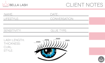 Bella Lash Client Notes