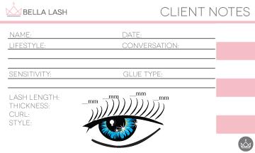 Bella Lash Client Notes