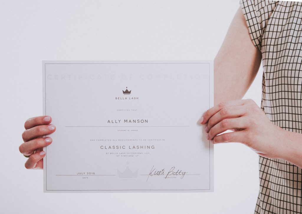 Bella Lash Certification